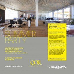 Giovedì 28/07 Summer Party @ Bellissimo Blue Loft | dj set | dalle 19h00 alle 01h00 | RSVP