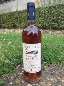 Vino rosè di Villa Pillo per le cene della legalità